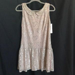 Pinky drop waist dress.